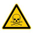 Segnale di pericolo: teschio e ossa - segnale di pericolo tedesco: teschio - g204